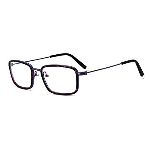 D.King Vintage Rectangle Clear Lens Eyeglasses Metal Frame Retro Fashion Glasses - Frames Shell Large Round Tortoise Eyeglass
