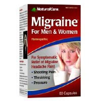 NaturalCare Homeopathic Migraine for Men & Women, Capsules, 60-Count