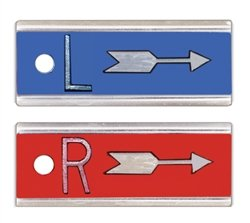 X-Ray Markers, Elite Style - Arrow, No Initials, SET, L&R 1/2'', Horizontal