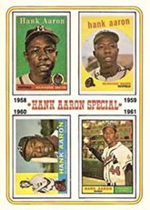 1974 Topps # 3 Special 1958-61 Hank Aaron Atlanta Braves (Baseball Card) Dean's Cards 2 - GOOD Braves
