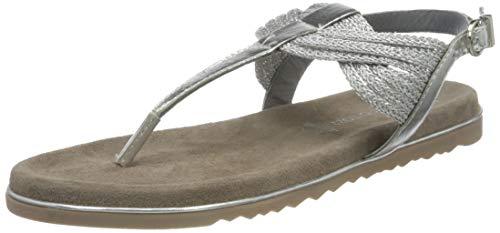 Marco Tozzi Damen 2-2-28128-26 Leder Sandale, Silver Comb, 40 EU