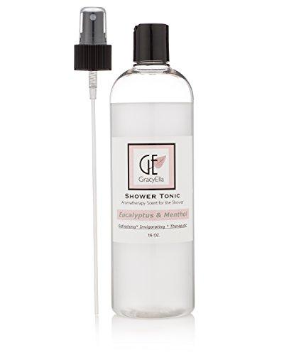 Eucalyptus Aroma - Eucalyptus Oil Steam Shower Spray Aromatherapy for Sauna, Shower, Room Spray, Deodorizer and Sinus Relief 16 Oz.
