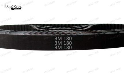 Fevas Free 180 HTD3M Timing Belt Length 180mm Width 5-15mm 60 Teeth Rubber Closed-Loop 180-3M S3M 3M 9 Pulley for CNC Machine - (Width: 6mm, Number of Pcs: 5pcs)