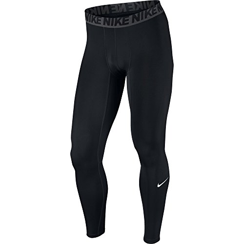 (NIKE Men's Base Layer Training Tights, Black/Dark Grey/White, Large)