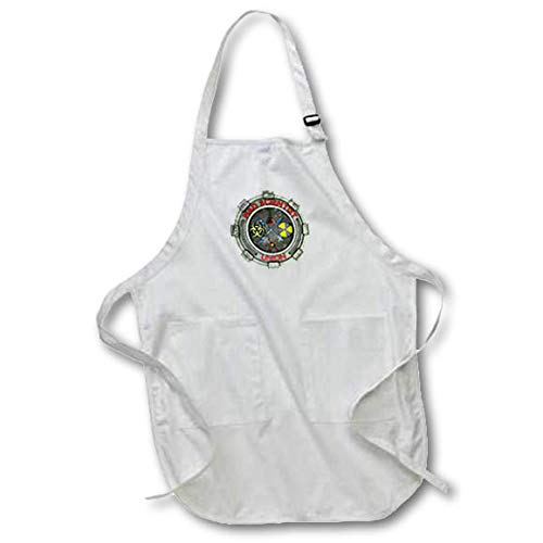 3dRose Macdonald Creative Studios – Nerd - Mad Scientiest Union, Fun Geek Symbol for Any Nerd or Scientist. - Full Length Apron with Pockets 22w x 30l (apr_295599_1)