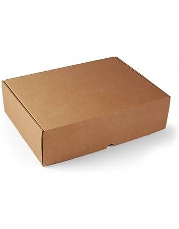 Selfpackaging Caja Rectangular automontable en cartón microcanal Color Kraft. La Caja envíos Postales - XL