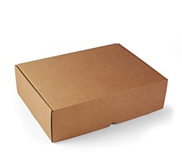 Selfpackaging Caja Rectangular automontable en cartón microcanal Color Kraft. La Caja envíos Postales - XL: Amazon.es: Hogar