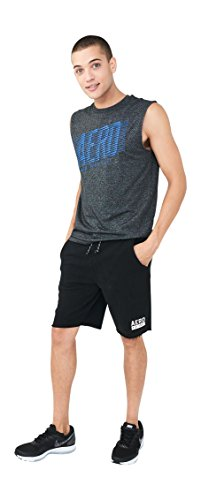 Aeropostale Fleece - Aeropostale Aero EST. 1987 Fleece Shorts Large Black 1