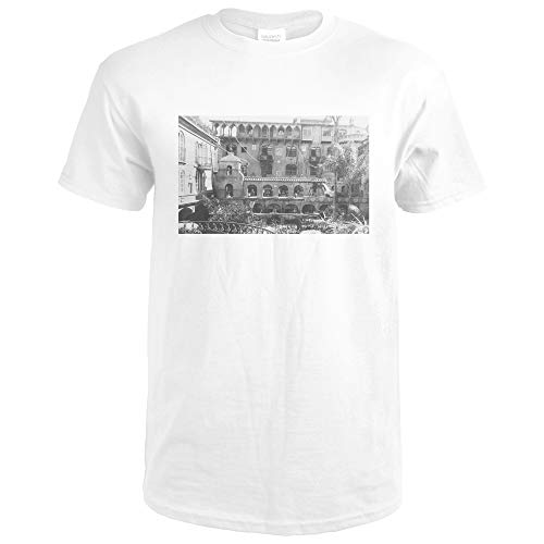 Mission Inn Spanish Patio View Riverside, CA Photograph 3132 (Premium White T-Shirt XX-Large) (Inn Patio)