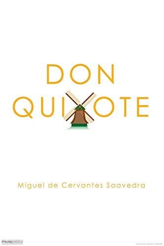 Pyramid America Laminated Don Quixote Miguel de Cervantes Saavedra Windmill Art Print Sign Poster 12x18 inch