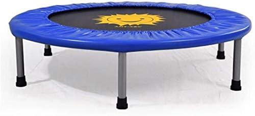 KEWEI - Trampolín con soporte de flores (azul) para interior y familia, para adultos y niños, cama elástica