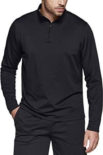 TSLA Mens Winterwear Sporty Slim Fit 1//4 Zip Fleece Lining Sweatshirt