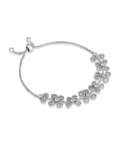shaze Silver Blossom Bracelet|Gift for Her Birthday|Christmas Gift for Her by Shaze