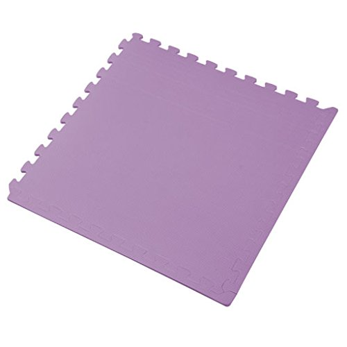 We Sell Mats Purple 16 Square Ft (4 Tiles + Borders) Foam Interlocking Floor Square Tiles by We Sell Mats (Image #3)