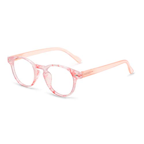 OCCI CHIARI Lightweight Designer Acetate frame Stylish Reading Glasses For Women (15006- Pink, 3.5)