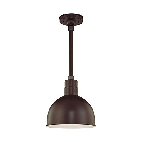 R Series 1 Light Kitchen Pendant - Finish: Architectural Bro