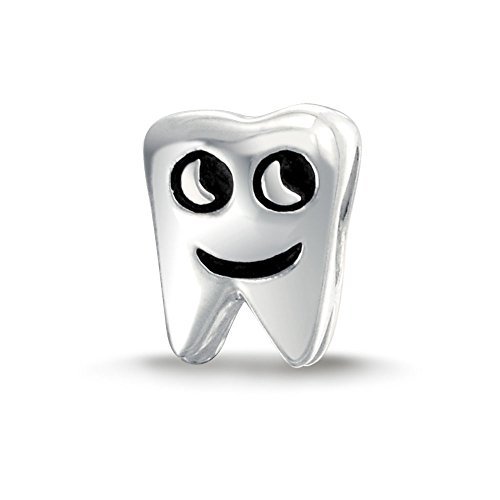 Sterling Silver Tooth - Bling Jewelry Smiling Tooth 925 Sterling Silver Bead Charm