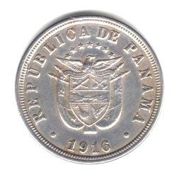 1916 Panama 2 1/2 Centesimos Coin KM#7.2