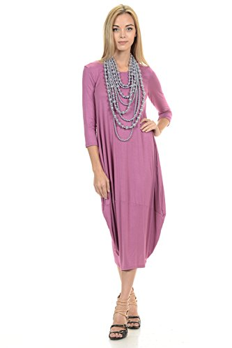 Pastel by Vivienne Women's Cocoon Midi Dress Large Mauve