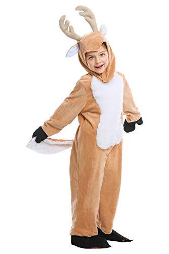Toddler Kids Deer Reindeer Onesie Animals Costume Halloween Chrismas Cosplay Child Pajamas,Large