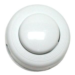 Satco 80-1466 Step-on-Button on/Off Push Floor Switch, White ()