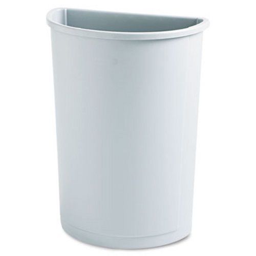 RCP3520GRA - Rubbermaid Untouchable Waste Container, Half-round, Plastic, 21 Gal, Gray