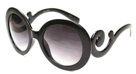 Round Oversized Celebrity Inspired Baroque Swirl Curly Fashion Sunglasses - Several Colors Available! - Sunglasses Round Baroque