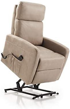 Butaca, sillón Relax, Star, Sistema reclinable motorizado, sillones, Comodo Elegante Color Piedra o Gris Plomo