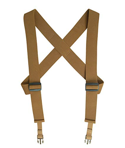 Rothco Combat Suspenders, Coyote Brown