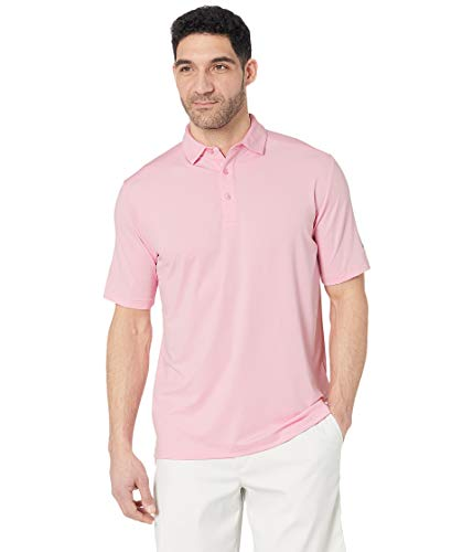 Callaway Men's Cooling Solid Micro Hex Short Sleeve Golf Polo Shirt, Prism Pink, X-Large ()