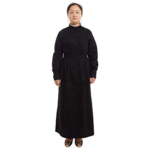 GRACEART Pioneer Women Costume Prairie Dress Black (Thickiy ronior) -