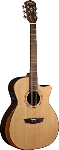 Washburn 6 String Acoustic-Electric Guitar, Natural (WCG20SCE-O)