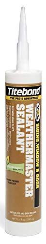 Titebond 43991 WeatherMaster Sealant Cartridge, 10.1 oz., Crystal Clear by Titebond ()