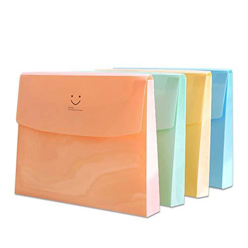 Smiles Folders - Smile File Folder Test Papers A4 Large Capacity Multilayer Student Stationery Document Bag Envelope Bag Random Color