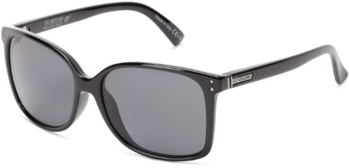 VonZipper Castaway Polarized Square Sunglasses,Black Gloss, Grey & Poly,One Size by VonZipper