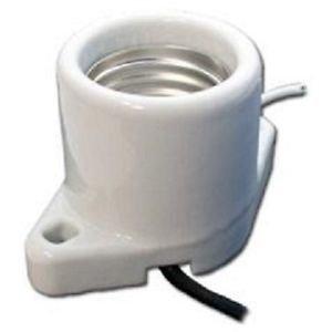 Surface Mount Medium Base Porcelain Socket Leads 6