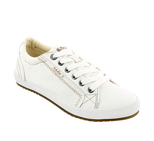 Taos Footwear Women's Star White Sneaker 9.5 M US