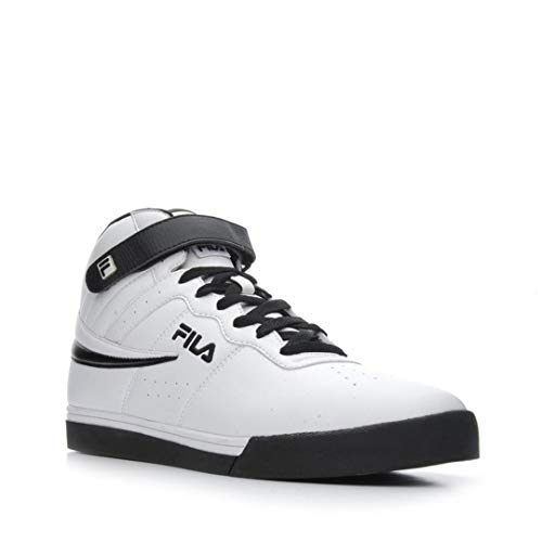 Fila Men's Vulc-13-Mid-Plus White/Black Sneakers Shoes Sz: 11