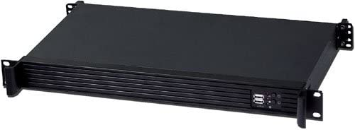 Rackmount Chassis 9.84 Deep Customize 1U IO Shield PLINKUSA RACKBUY 1U No System and Case Only ITX-102/_EFAP-M251 ETASIS 250WPSU 3.5 or 2 x 2.5 HDD Bay Mini ITX