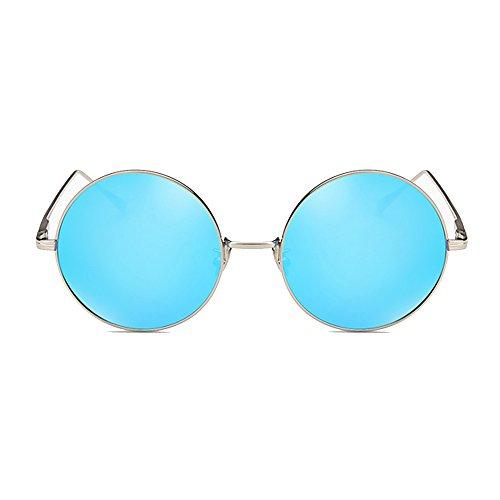 De PolariséS Cadre Lunettes Conduite De Blue Femmes TESITE Soleil Miroir Anti Verres Coloré 100 UV Rond z7wa5Hx5