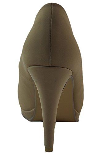 Dbdk Av Elegant Skor Kvinna Afton-3 Peep Toe Pump Beige