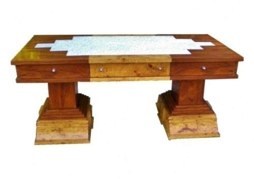 Sultaneantiques - Magnificent Art Deco Style Top Executive Desk Art Deco Rosewood Table