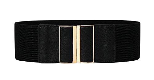 Aecibzo Women Stretchy Vintage Dress Belt Wide Elastic Waist Cinch Belt