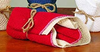 product image for Country Cottons 100% Cotton Dishcloths - Red/Natural