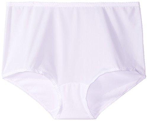 (Shadowline Women's Plus Size Spandex Modern Brief, White 2X)
