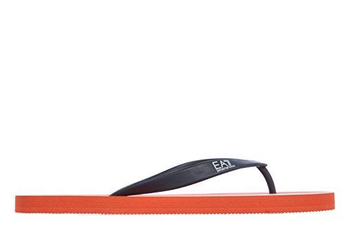 Emporio Armani EA7 men's rubber flip flops sandals fresbee m orangene US size 9 275541 5P295 08562