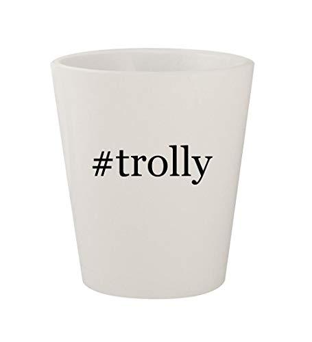 #trolly - Ceramic White Hashtag 1.5oz Shot Glass ()