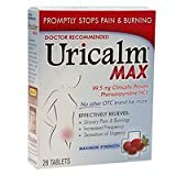 Uricalm Max Strength Urinary Pain Tablets, 28 ea - 2pc
