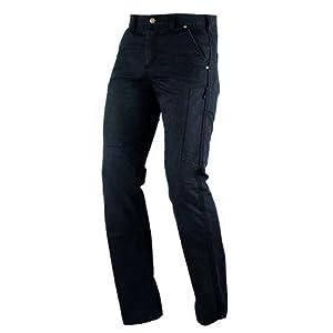 Jeans Pantalon Motard Moto Femme Protections Ce Inserts Kevlar Coton noir 30
