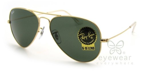 Ray-Ban RB 3025 Aviator Arista Gold w/ Gray Green (G-15) Lens - 14 62 Ban Ray